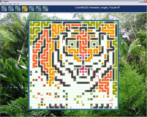 PathPix - enchanting picture puzzle fun! Draw a maze of colored paths to link matching endpoints. Solve the puzzle and reveal the hidden picture surprise. Zoom, scroll, check your work as you go. 750 beautiful logic puzzles - very easy to super hard.
